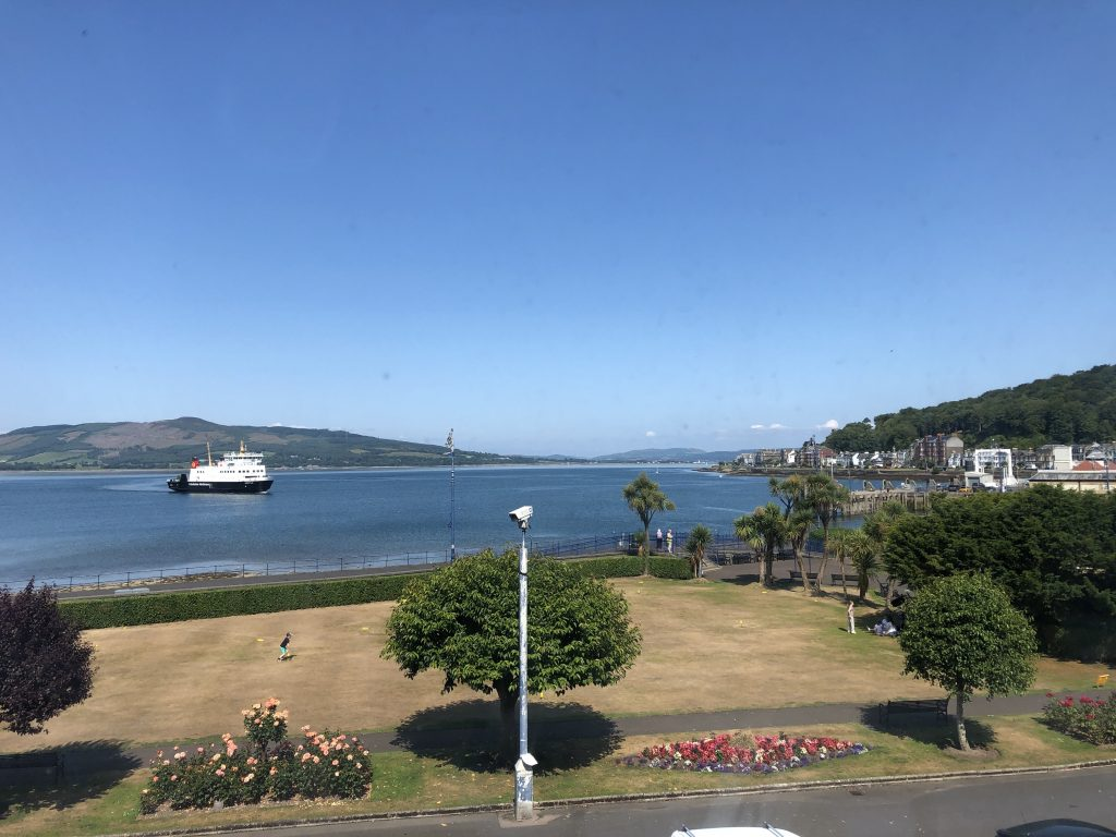 The ferry coming in to Rothesay.